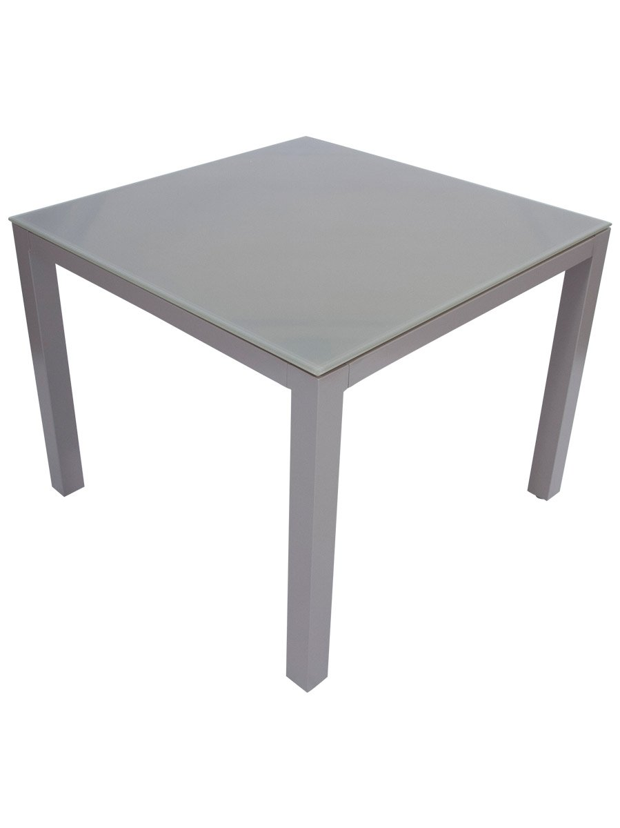 floating glass top aluminium dining tables' - daydream leisure