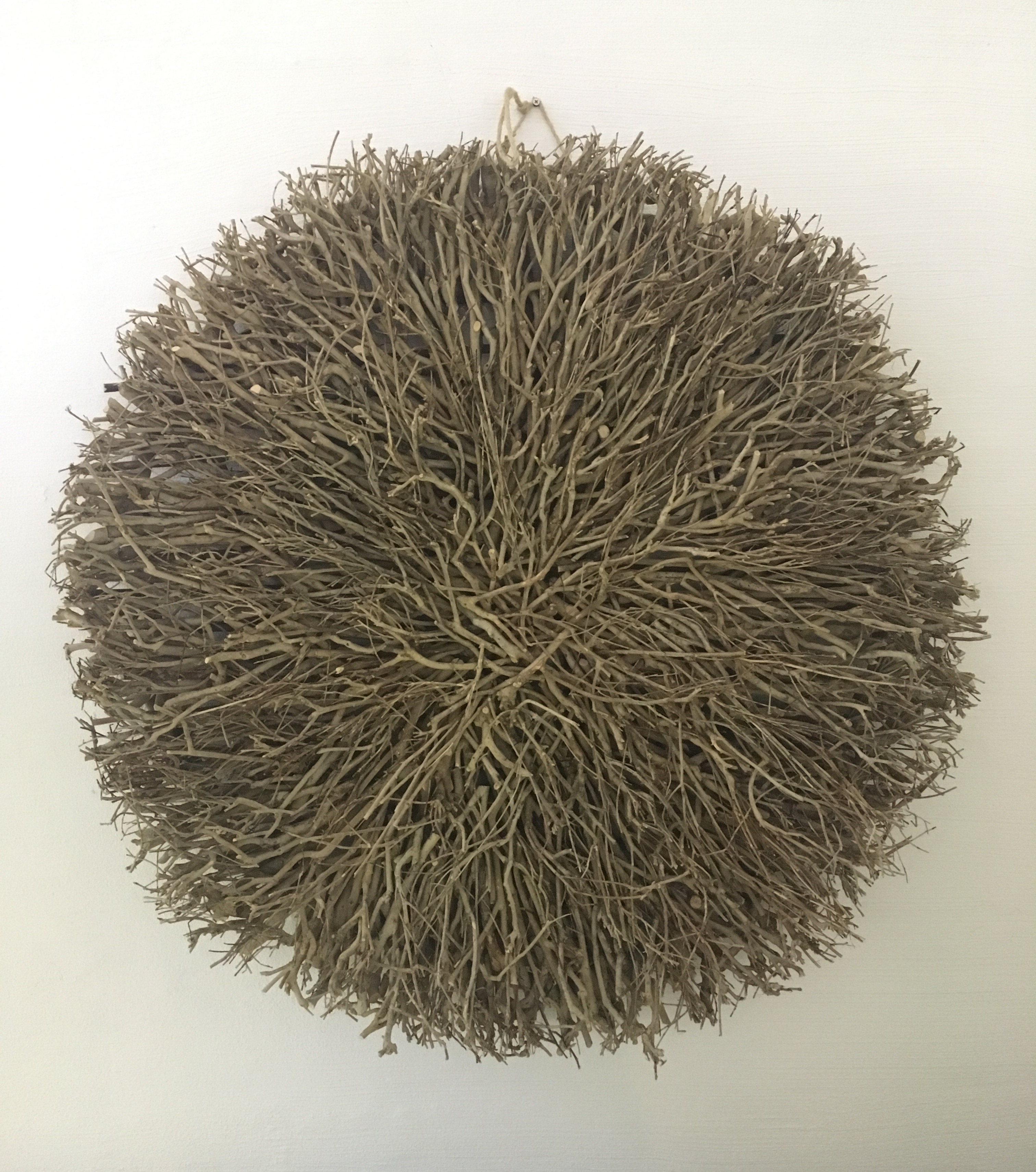 Twig Wall Decor wall decor - large round twig natural - daydream leisure furniture