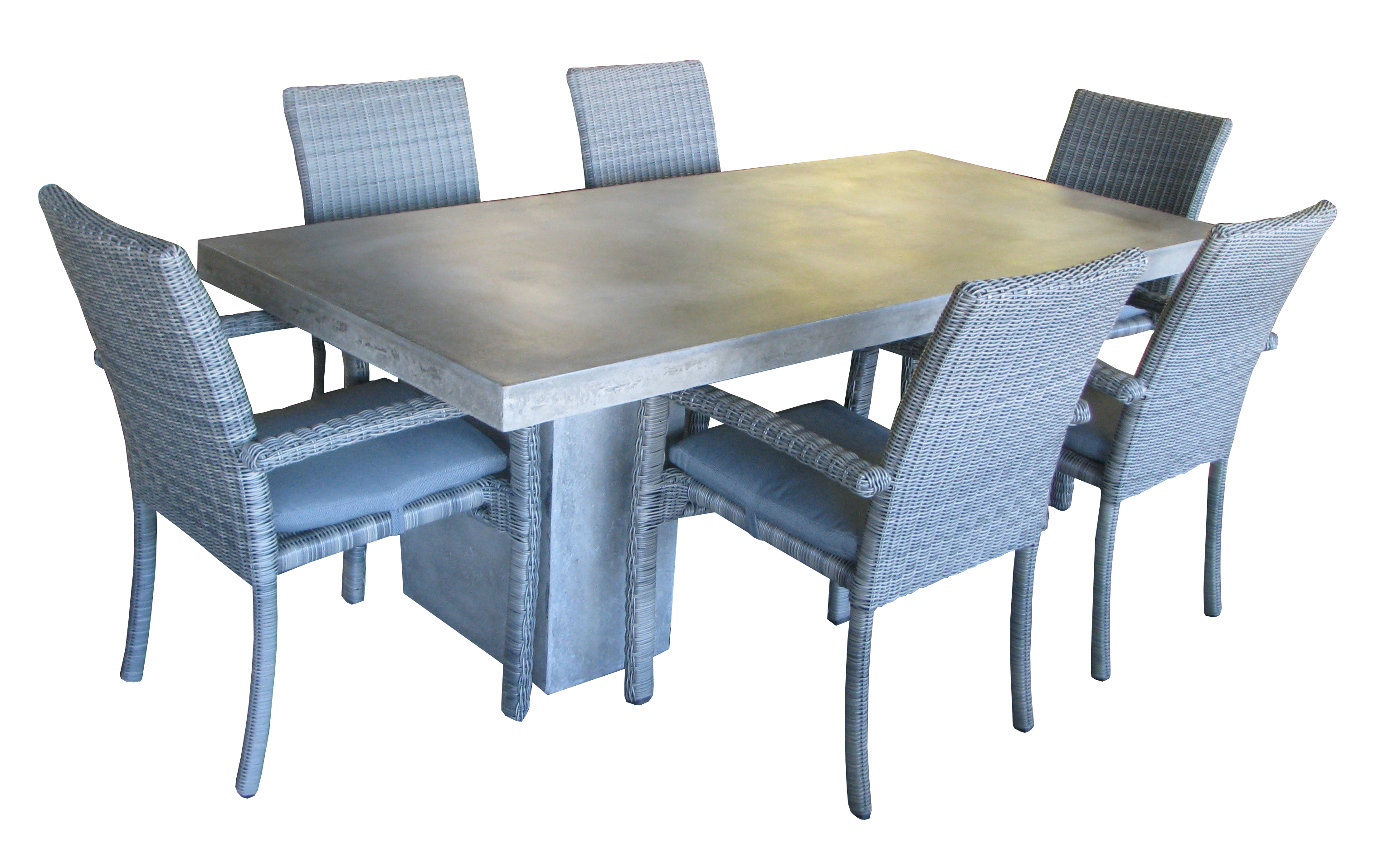 210 x 110cm 39 concrete 39 table with pillars daydream leisure furniture. Black Bedroom Furniture Sets. Home Design Ideas